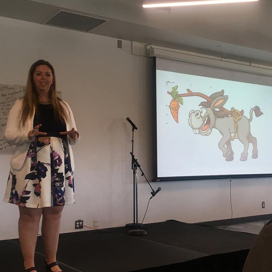 Skye Barbic presenting